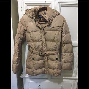 Lands End hooded puffer jacket